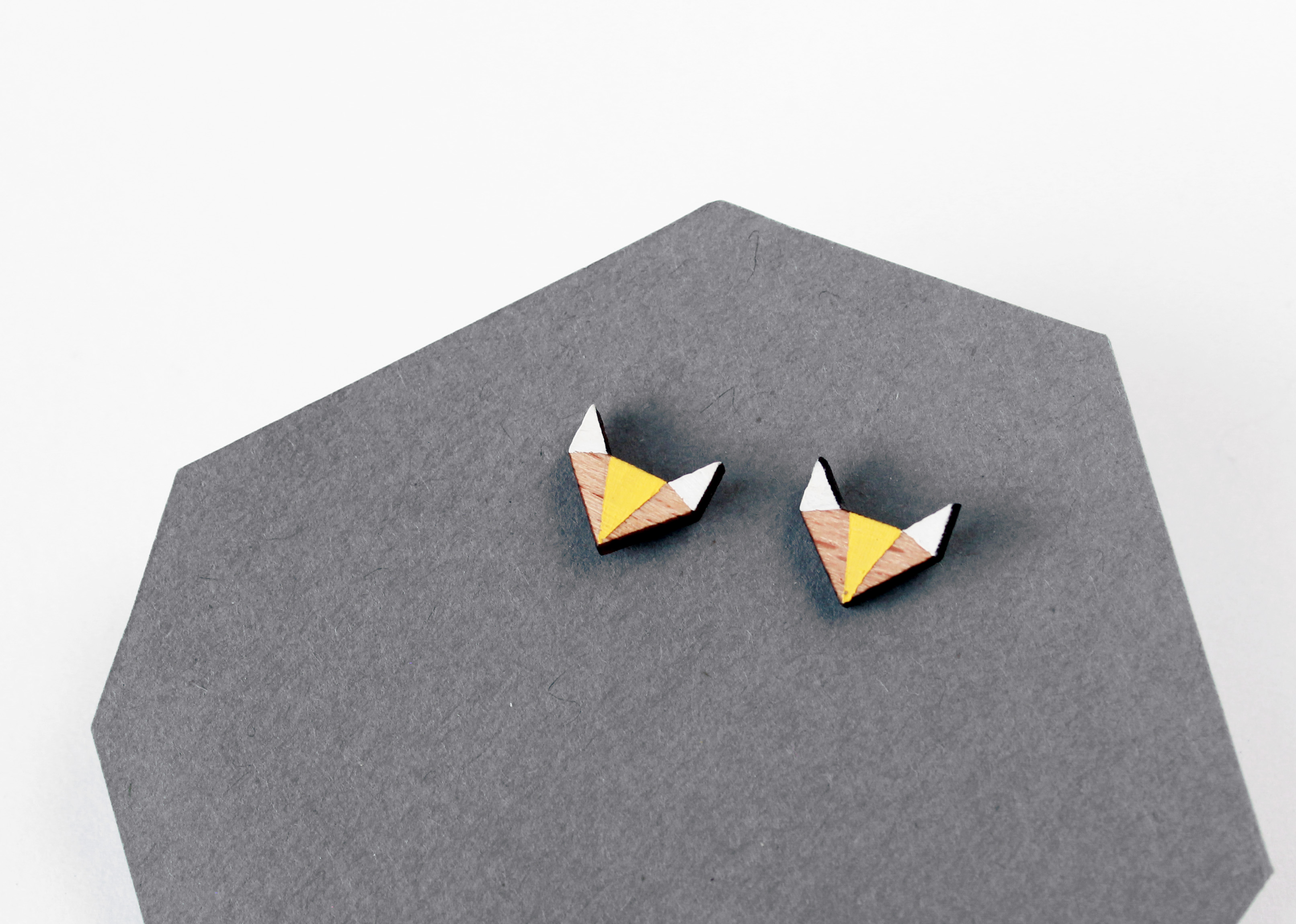 geometrikus róka fülbevaló