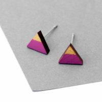 Geometrikus háromszög bedugós füli