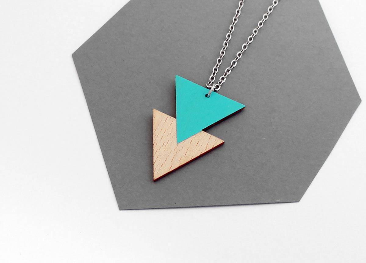 Theia Design dupla háromszög nyaklánc